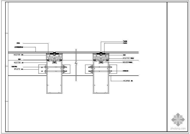 某隐框幕墙及铝塑板幕墙节点构造详图(五)_1