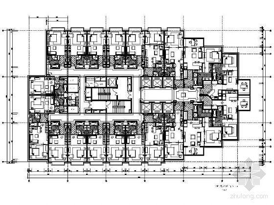 [北京]某酒店公寓平面图