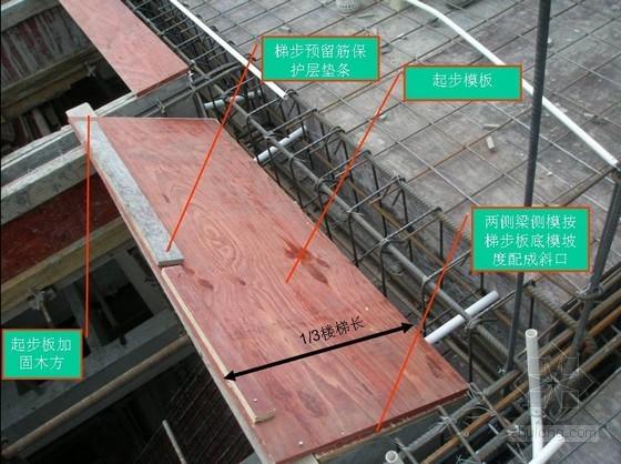 建筑工程楼梯模板施工工艺及现场统一做法实例(附图丰富)