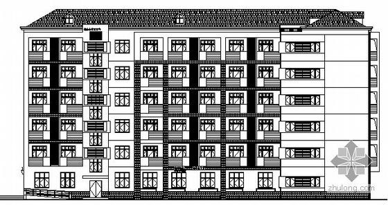 [松江区]某中学宿舍楼建筑施工图