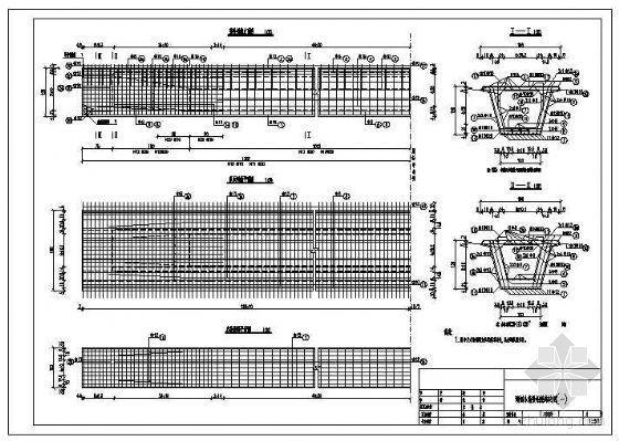 25米小箱梁局部节点构造详图