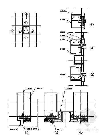 U型玻璃幕墙隔断资料下载-180系列(C型)隐框玻璃幕墙装配图