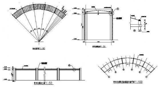 某广场休息长廊施工图-4