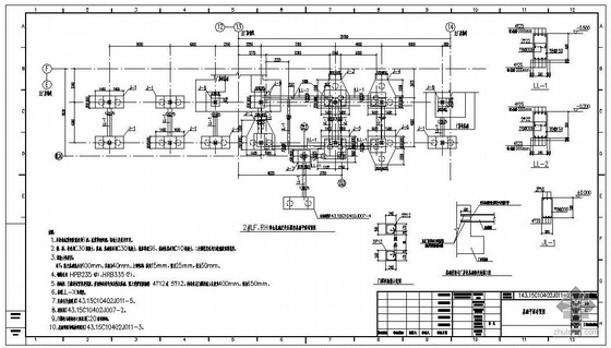 江阴某炼钢工程2#RH料仓基础及变压器室结构施工图