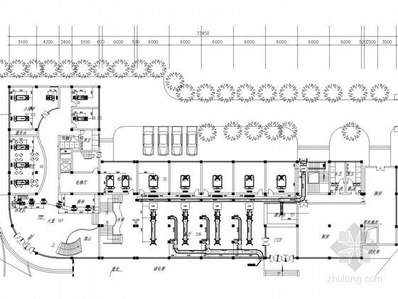 [北京]小高层宾馆酒店办公楼空调通风系统设计施工图(风冷模块冷热水机组)