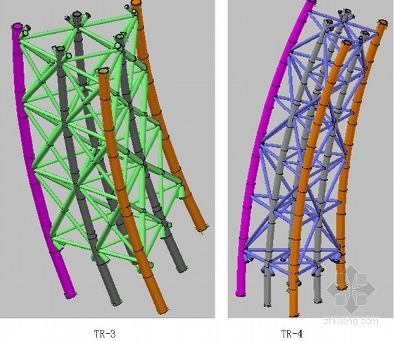 三角形截面钢管桁架环形钢结构体系拼装方案(多图)