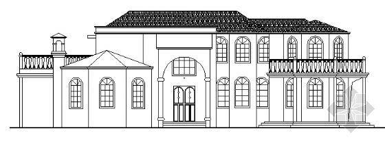 某欧式二层别墅建筑施工图
