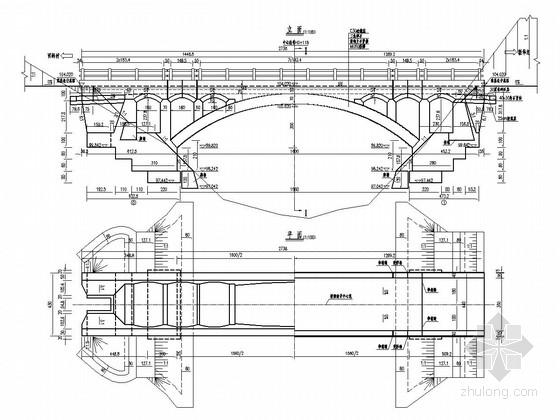 1-16m空腹式石拱桥全套施工图(16张)