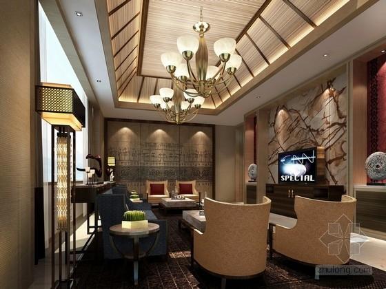 [海南]东方夏威夷新中式风格接待中心客房设计方案