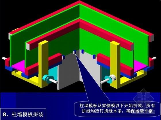建筑工程楼梁板模板施工顺序动画式图片