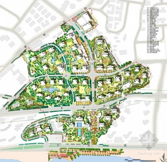 超高层artdeco风格住宅区总平面图