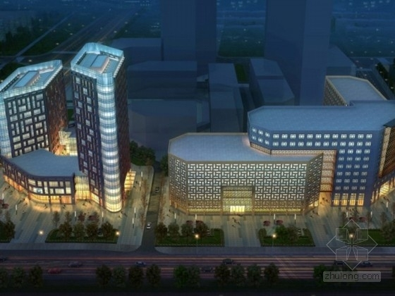 [都江堰]某中心商务区规划及单体设计方案文本(含CAD)