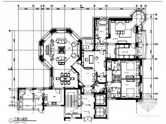 [上海]前卫小资风情欧式公寓室内精装样板房施工图