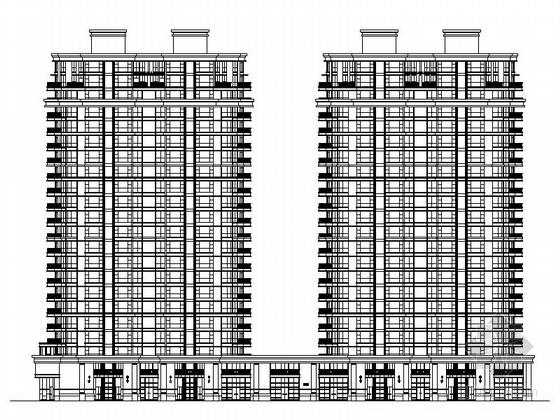 [宁波]某欧式风格22层住宅楼建筑施工图