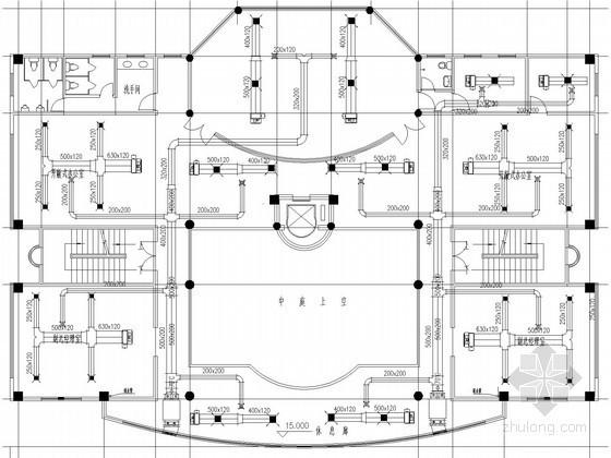 小型多层办公楼空调通风系统初步设计图