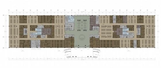 [广东]现代风格集团公司办公楼室内概念设计方案