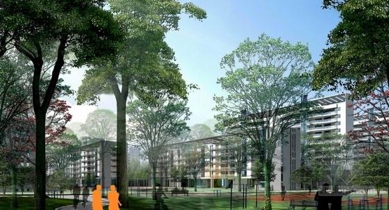 [广州]现代宜居亚运村地块规划设计方案文本-现代宜居亚运村地块规划效果图
