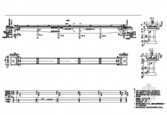 预应力混凝土T型桥梁成套cad设计图纸