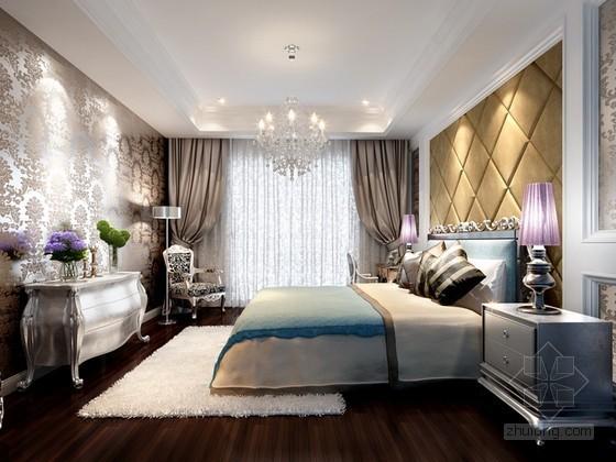 新古典奢华卧室3d模型