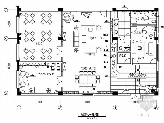 [北京]现代时尚风格商务酒店公寓老年活动中心装修图(含效果)