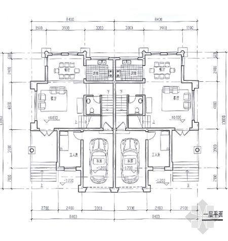 某别墅平面图及效果图7