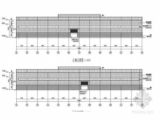[江苏]单层门式钢架厂房结构施工图