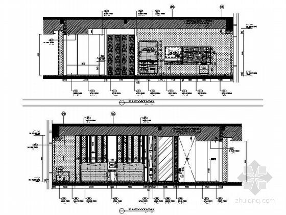 [四川]全球最大酒店客房电梯厅室内装修设计施工图(含方案效果)双人床房立面图
