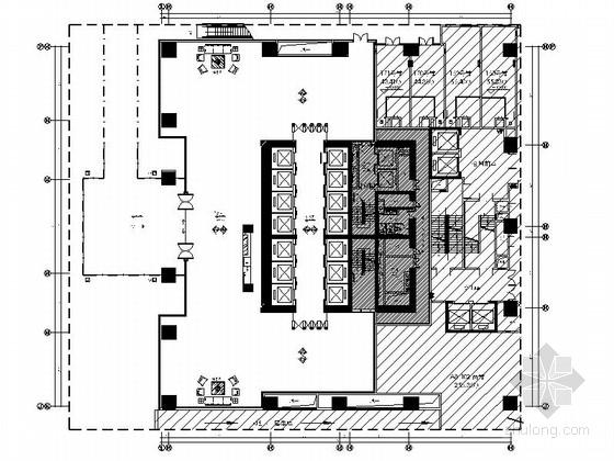 [佛山]现代高端甲级写字楼公共空间室内装修图(含效果)