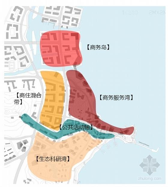 滨海生态知名地产区概念性商业综合体分析图