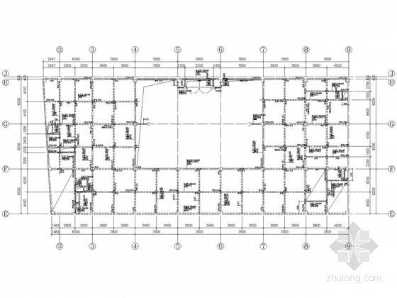 裙房4层主体13层百货大楼结构施工图(分A、B、C区)