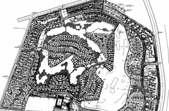 十个知名地产项目景观设计CAD总平面图