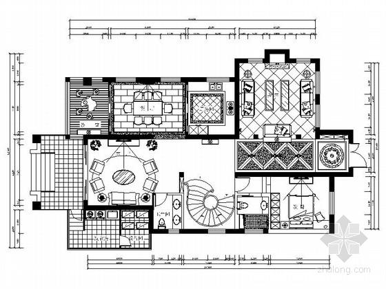 [上海]高档现代简约风格两层别墅室内装修施工图
