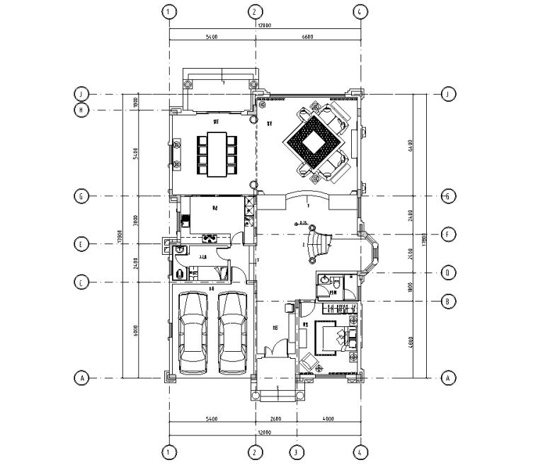 [北京]某美式古典别墅设计施工图附实景照片