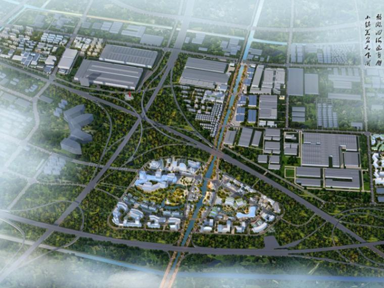 [浙江]杭州机器人旅游小镇规划设计(特色,休闲)A-1 鸟瞰