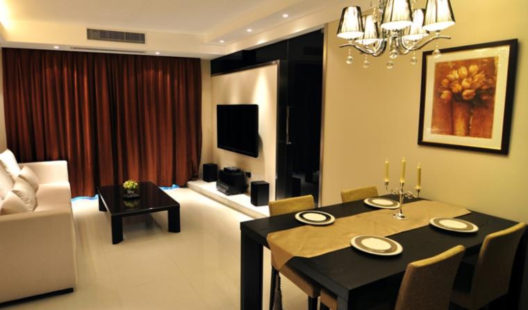 简约中室小奢华124平精致二居室实景图