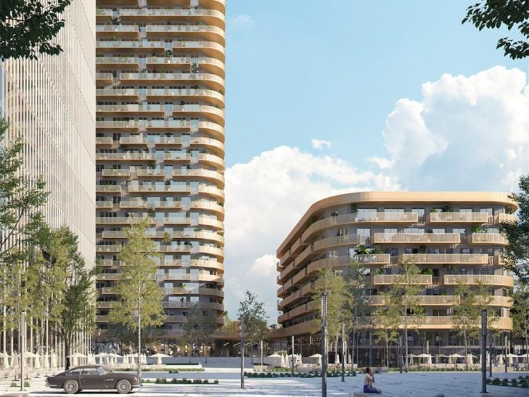 德国法兰克福市中心住宅塔楼