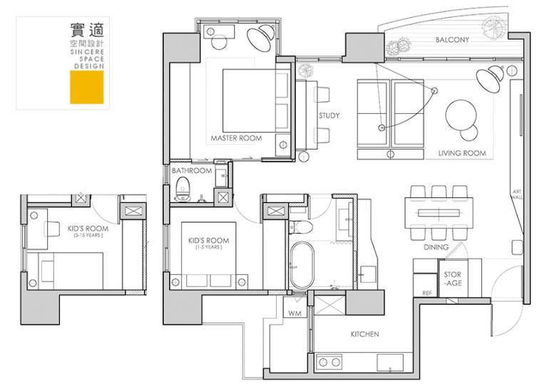 现代风格温馨室内设计方案(实景图+平面图)12页-住宅装修-土木资料网