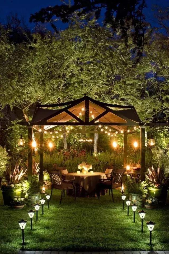 庭院庭院设计资料下载-庭院灯光设计,整个院子都惊艳了