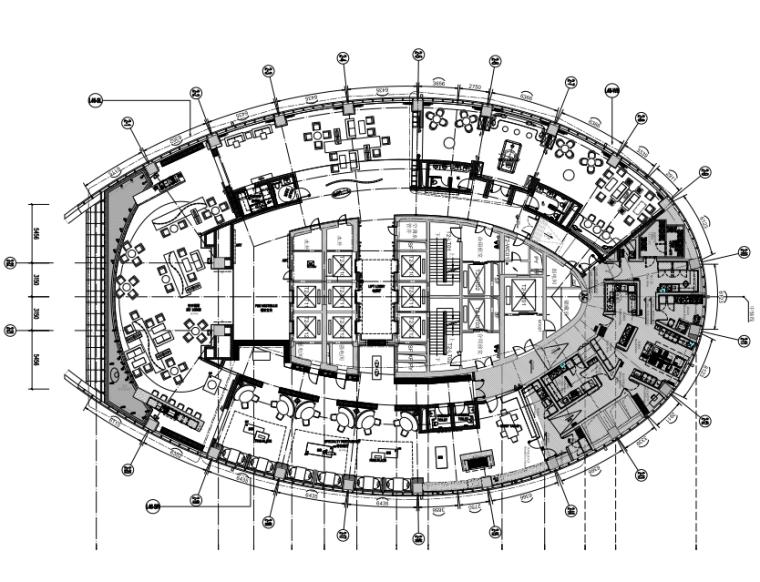 山东济南高速广场丽笙酒店施工图+设计方案+效果图