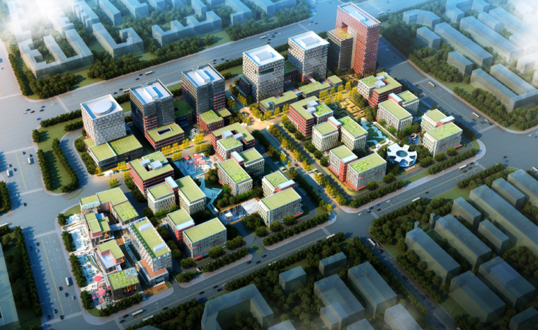 [江苏]智汇之谷——宿迁大学科技城 (66张+景观绿化)