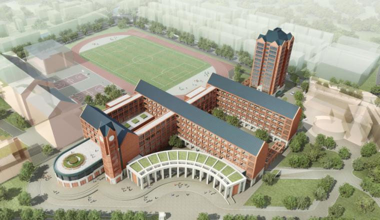 欧式风格多层学校建筑设计方案文本