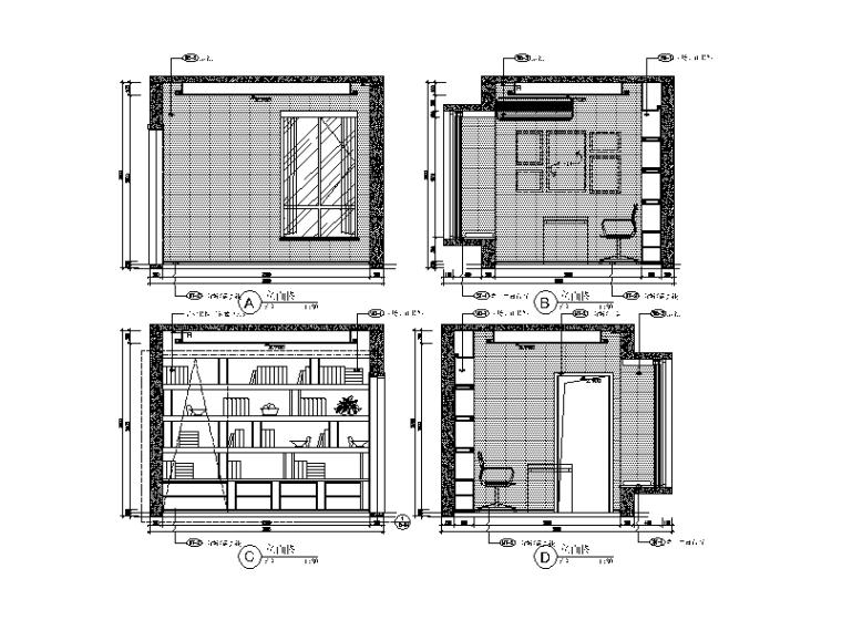 现代风格小户型设计CAD施工图(含效果图)_6