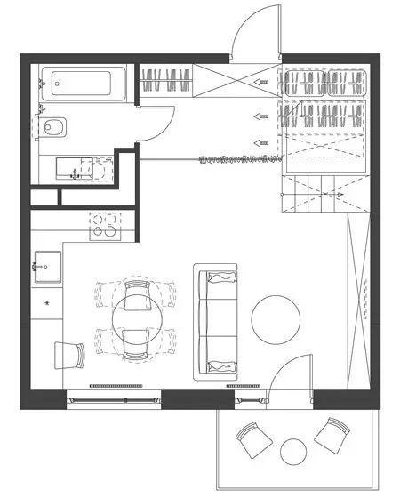 35平的简约单身公寓,收纳设计才是王道!