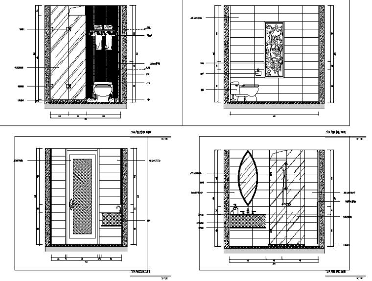 [福建]混搭风格会所空间设计施工图(附效果图)