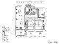 绿地华尔道简约风二居室样板房设计施工图(附效果图)