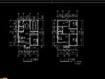 多层别墅户型建施图