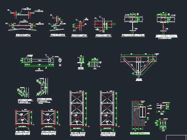 钢混框架结构拼接厂房施工图纸(含建筑结构、给排水)_5