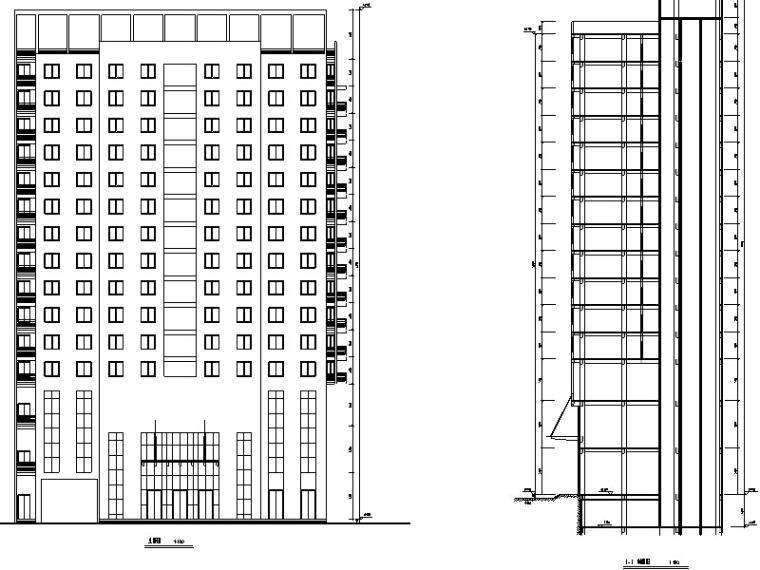 5套大型商业建筑设计方案初设图CAD