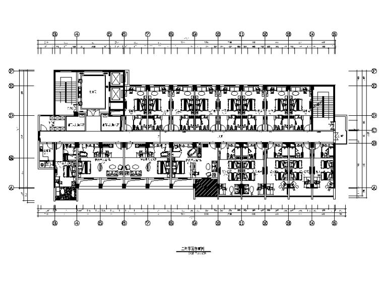[福建]福州某教育酒店设计CAD施工图(含效果图,实景图)