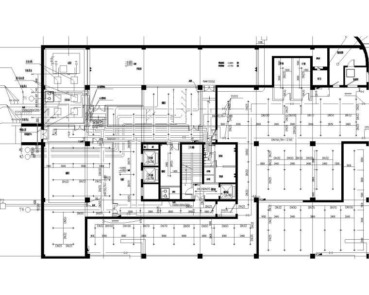 业务处理一号楼给排水施工图